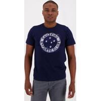 Camiseta Cruzeiro Wall Masculina - Masculino-Marinho