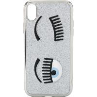Chiara Ferragni Flirting Embroidered Iphone Xr Case - Prateado
