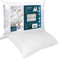Travesseiro Fibrasca Plumax Percal Branco