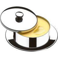 Manteigueira Redonda Com Pires 130 Gramas Átina Brinox