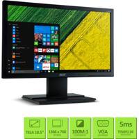"""Monitor Acer Com Tela Full Hd 18.5"""" Led Widescreen, Resolução De 1366 X 768, Tempo De Resposta 5Ms, Conexão Vga - V196Hql"""