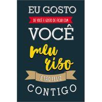 """Placa """"Eu Gosto De Vocãª...""""- Preta & Amarela- 30X20Ckapos"""