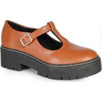 Sapato Boneca Feminino Tratorado Caramelo Caramelo