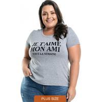 Blusa Mon Ami Cinza