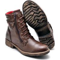 Bota Coturno Top Franca Shoes Masculino - Masculino-Café