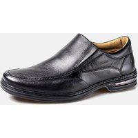 Sapato Rafarillo Casual Confortável Com Amortecedor Couro Preto