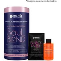 Richée Soul Blond Repositor De Massa + Óleo Argan + Mask - Feminino-Incolor