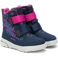 Geox Kids Bota 'Raio' Com Velcro - Azul
