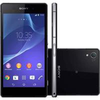 "Smartphone Sony Xperia Z2 D6543 Preto - 16Gb - Ram 3Gb - Hd 5.2"" - 20.7Mp - 4G Lte - Tv Digital - Android 4.4"