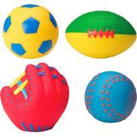 Brinquedos Para Banheira Esportes- Amarelo & Vermelho