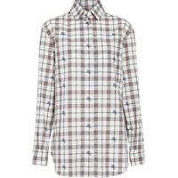 Burberry Camisa Xadrez Fil Coupé - Branco