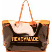 Readymade Bolsa Tote Com Estampa De Logo - Laranja