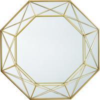Espelho Geomã©Trico- Espelhado & Dourado- 56X56X6,5Cmmart