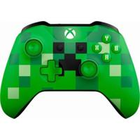 Controle Xbox One S Microsoft Wireless Bluetooth Minecraft Creeper - Unissex