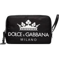 Dolce & Gabbana Nécessaire Com Logo - Preto