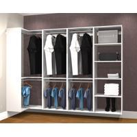 Conjunto Completo Para Closet 39 Branco - Getama Moveis