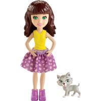 Boneca Polly Pocket - Lea E Seu Gatinho De Estimação - Mattel - Feminino-Incolor