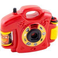 Câmera Fotográfica Cars®- Vermelha & Amarela- 9X11,5Etilux