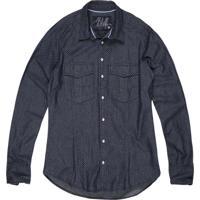 Camisa Jeans Khelf Poá Azul