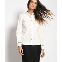 Camisa Com Recortes & Vivos - Off White & Pretavip Reserva