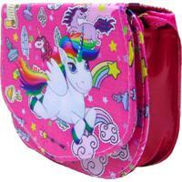 Bolsa Lua Nova Unicornio Divertida Rosa