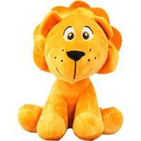 Bicho De Pelúcia Safari - Leão - Unik Toys - Multicolorido - Kanui