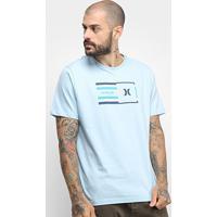 Camiseta Hurley Silk Radio Masculina - Masculino-Azul Claro