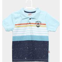 9c6688a77a ... Camiseta Polo Infantil Kiko & Kika Deep Sea Masculina - Masculino-Azul