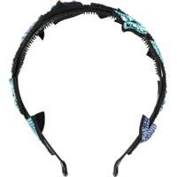 P.A.R.O.S.H. Headband Com Flor De Strass - Azul