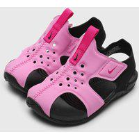 Sandália Nike Infantil Sunray Protect 2 Rosa/Preto