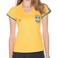 61ffe114ad4e8 Netshoes; Camisa Super Bolla Brasil Pro S/Nº Feminino - Feminino