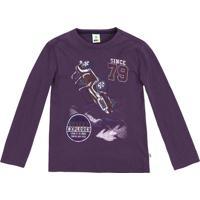"Camiseta ""Desert Explorer""- Roxo Escuro & Branca- Kipuc"