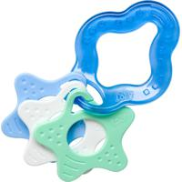 Mordedor Clean Com Estrelas Lolly Baby Azul E Branco