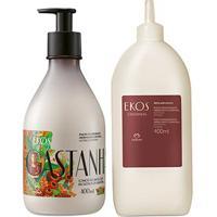 Kit Ekos Castanha Desodorante Hidratante Com Refil