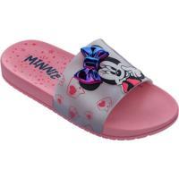 Chinelo Grendene Slide Infantil Minnie Fashion 22316
