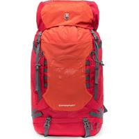 Mochila Vermelha De Viagem P/ Camping 60L Reforçada Swissport - Kanui