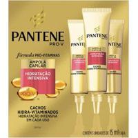 Ampola De Tratamento Pantene - Cachos Hidra-Vitaminados 3X 15Ml - Unissex-Incolor