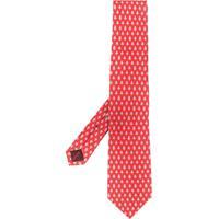Salvatore Ferragamo Gravata Com Estampa - Vermelho