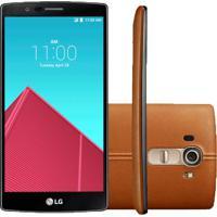 "Smartphone Lg G4 H815 - 32Gb - Tela 5.5"" - Camêra 16Mp - Couro Marrom"