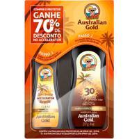 Kit Protetor Solar E Bronzeador Australian Gold Fps30 237Ml