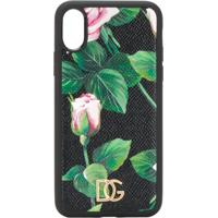 Dolce & Gabbana Capa Tropical Rose Para Iphone Xs - Preto