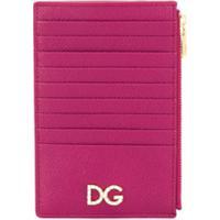 Dolce & Gabbana Carteira Com Logo E Zíper - Rosa