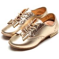 Sapato Ortopé Menina Dourado