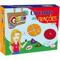 Fracoes - Circulos De Fracoes - Mdf - 55 Peças - Cx. Papel - Carlu