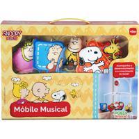 Móbile Musical Infantil Pura Diversão Snoopy Com Melodias Colorido
