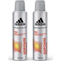 Kit 2 Desodorantes Adidas Adipower Aerossol Masculino 150Ml - Masculino-Incolor