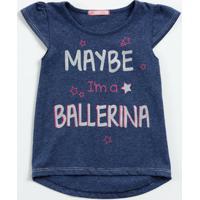 Blusa Infantil Estampa Frontal Glitter Marisa