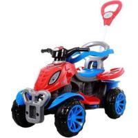 Quadriciclo Infantil A Pedal 3113 - Unissex-Vermelho+Azul