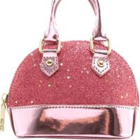 2e31f6d87 ... Mini Bolsa Birô Glitter Feminina - Feminino-Pink