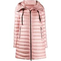 Moncler Hooded Down Coat - Rosa
